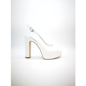 Chanel Luciano Barachini pelle bianca tacco 13 con plateau art. CC232N
