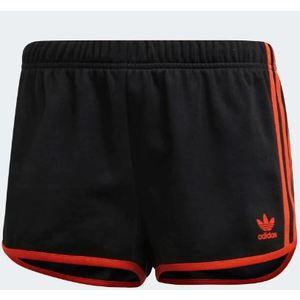 Pantaloncino Adidas nero bande arancione shorts donna art. DU9938