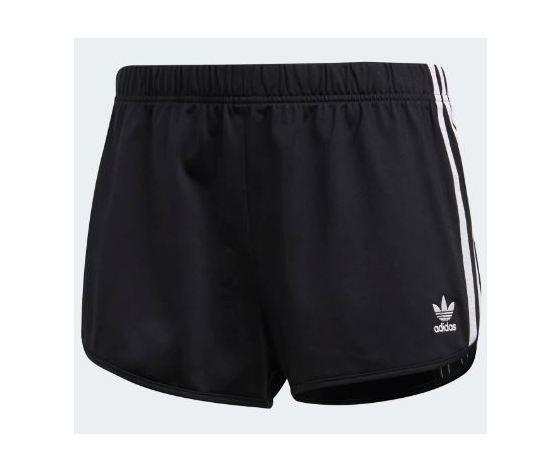 Adidas pantaloncini 3 stripes colore nero strisce bianche shorts tricot  abbigliamento donna art. DV2555