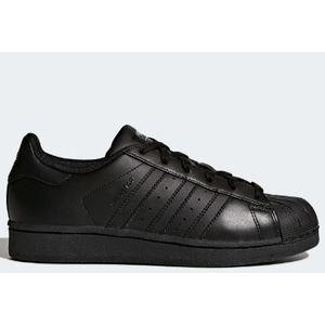 Superstar J Adidas total nero scarpe bambini art. B25724