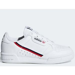 Adidas Continental 80 bambini sneakers bianco striscia rosso nero art. G28215