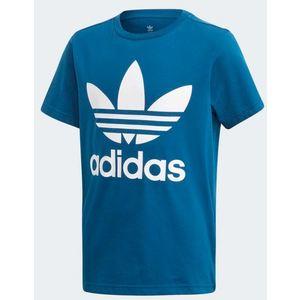 Maglietta Adidas blu bambini logo Trefoil art. DV2906