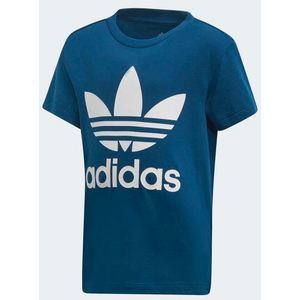 Maglietta Adidas blu bambini logo Trefoil art. DV2859