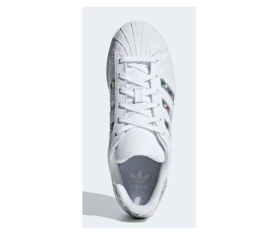 F33889 adidas superstar j bianco logo fluo 2
