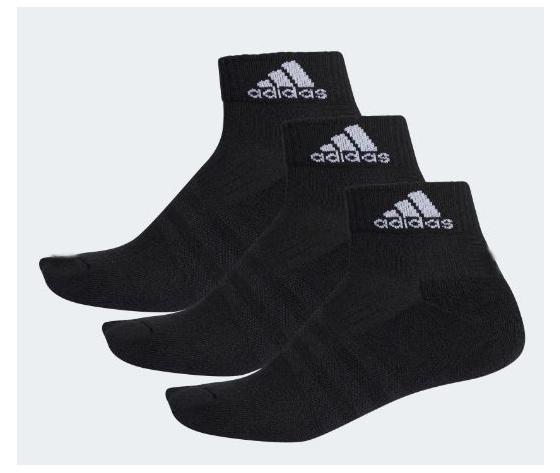 Aa2286 calzini 3stripes adidas 3 paia nero