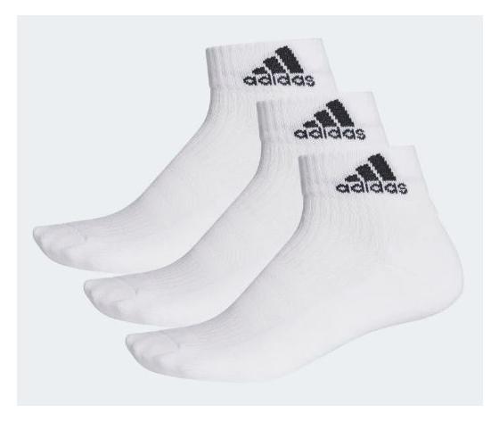 Aa2285 calzini adidas 3stripes 3 paia bianco