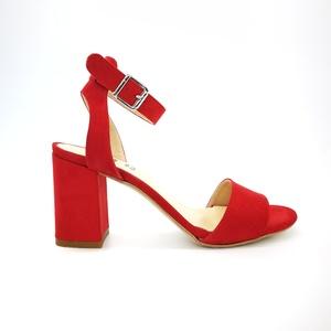 Sandali Colbaffo® rosso tacco 70 allacciatura a braccialetto art.3365RO