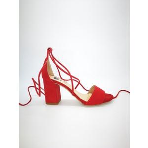 Sandali Colbaffo® rosso tacco 70 allacciatura alla schiava art.3369RO