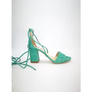 Sandali Colbaffo® verde tacco 70 allacciatura alla schiava art.3369VER