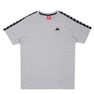 Maglietta Kappa Emanuel grigio logo nero abbigliamento art. 305001 18M