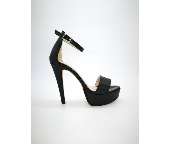 440ner colbaffo sandali tacco 13 nero