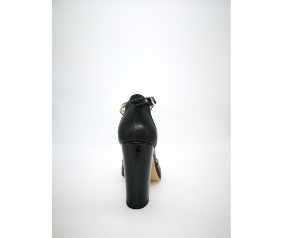 218ner colbaffo decollete nero pelle tacco 90 2