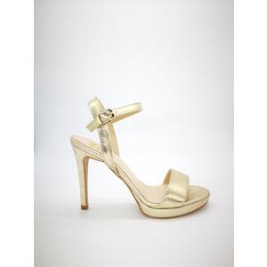 Sandali Oro tacco 10 con plateu minimal Colbaffo® platino tacco 100  cinturino alla caviglia art. .091PLA