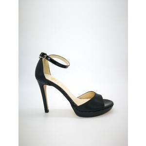 Sandali Colbaffo® nero tacco 10 plateau minimal 1 tallonetto fascia ad abbraccio art. .096NER