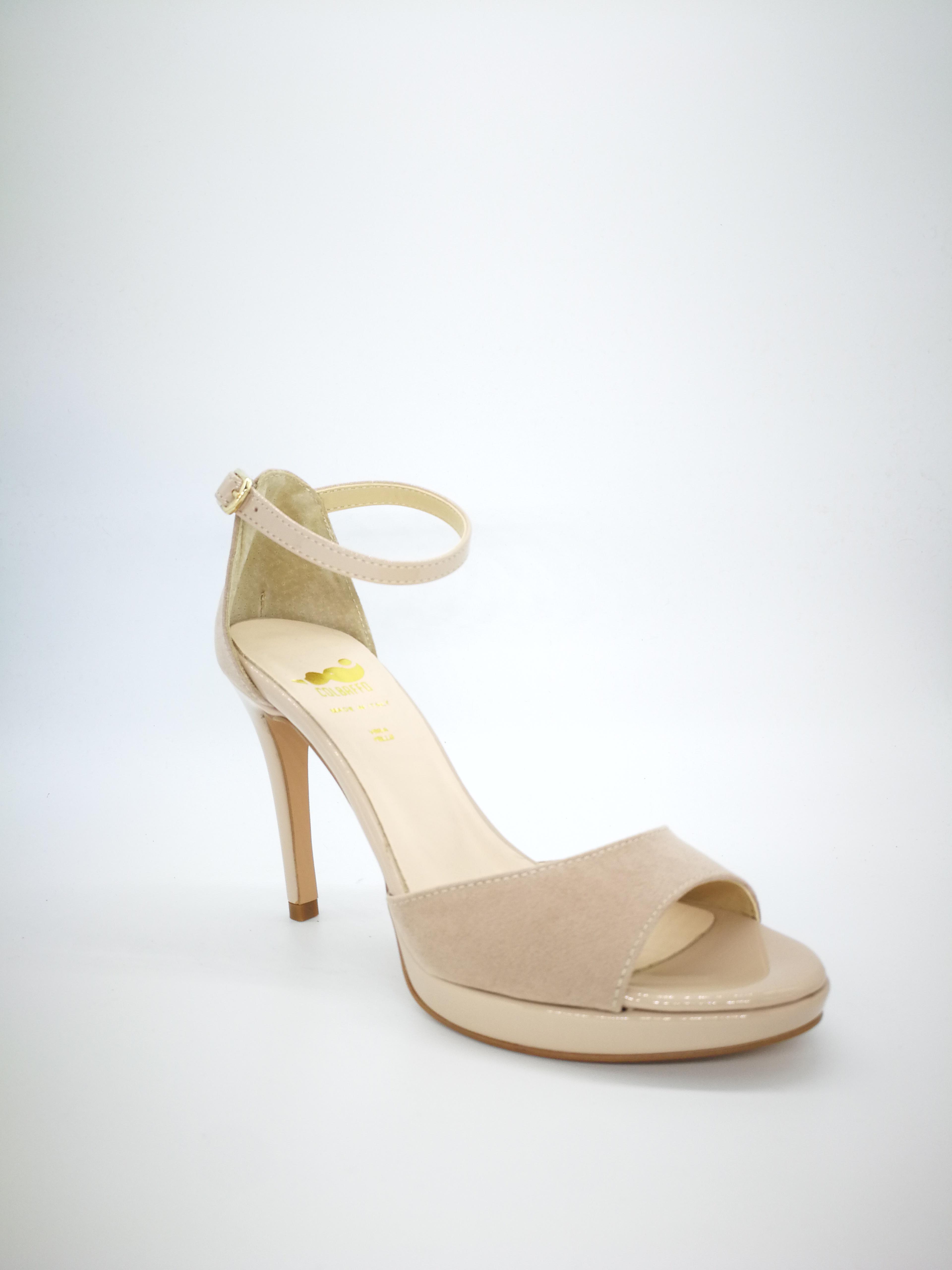 color Powder 1 Colbaffo® Sandalias en Plateau Heel 10 Minimal QChsrdxt