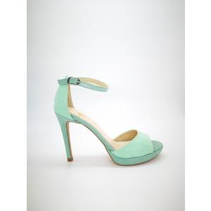 Sandali Colbaffo® verde tacco 10 plateau minimal 1 tallonetto fascia ad abbraccio art. .096VER