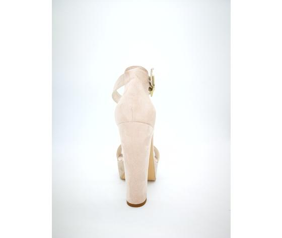 449nud colbaffo sandali tacco 12 tallone cipria 2