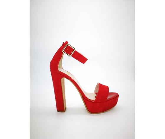 449ros colbaffo sandali tacco 12 tallone rosso
