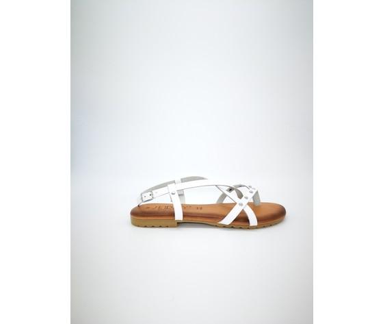 Ambra bi sandalo piano jeiday cuoio bianco