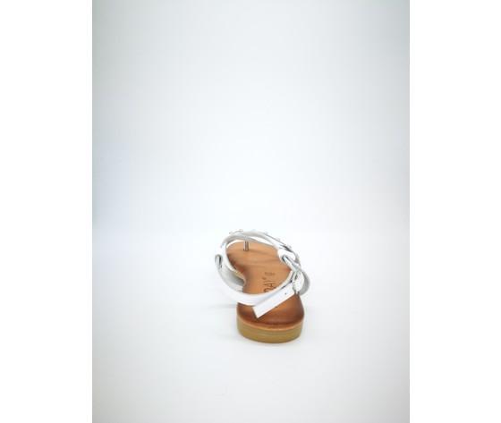 Ambra bi sandalo piano jeiday cuoio bianco 2