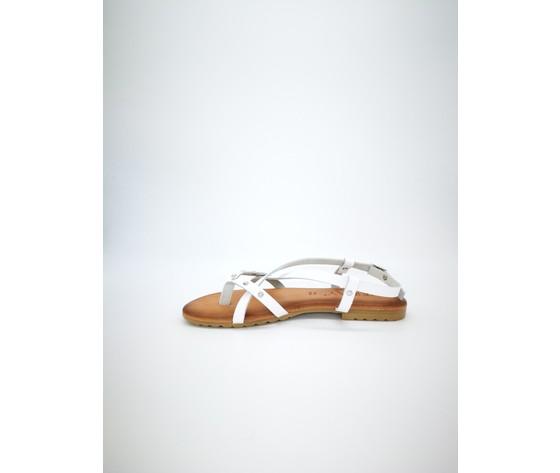 Ambra bi sandalo piano jeiday cuoio bianco 3