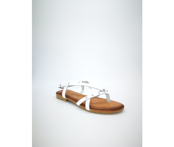 Ambra bi sandalo piano jeiday cuoio bianco 4