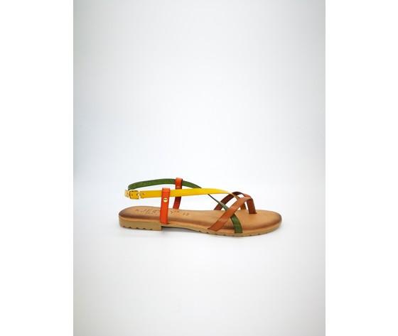 Mimosa mul sandalo piano jeiday cuoio multicolor