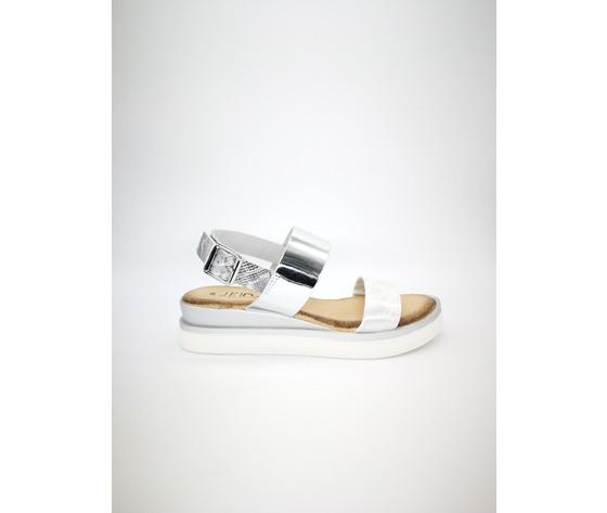 Myriam ar sandalo doppia fascia argento