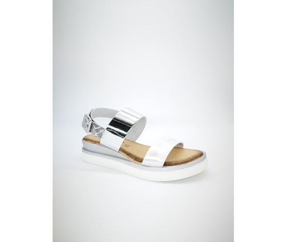 Myriam ar sandalo doppia fascia argento 4