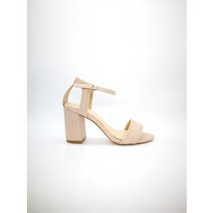 Sandalo Pregunta cipria tacco 8cm plateau 0,5cm cinturino alla caviglia borchie art. MCI1001 001