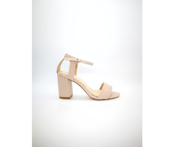 Mci 1001 001 cipria sandalo borchiato tacco basso %281%29
