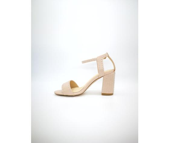 Mci 1001 001 cipria sandalo borchiato tacco basso %282%29