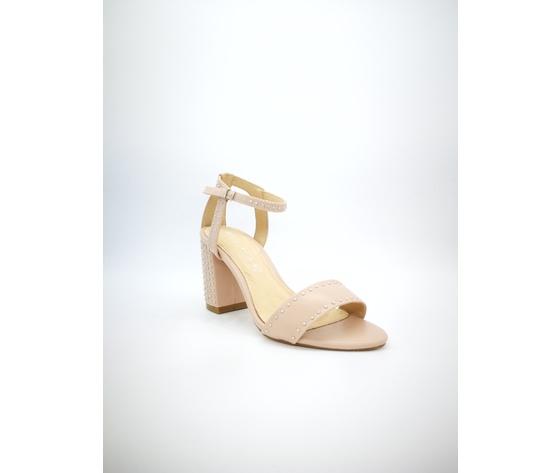 Mci 1001 001 cipria sandalo borchiato tacco basso %283%29