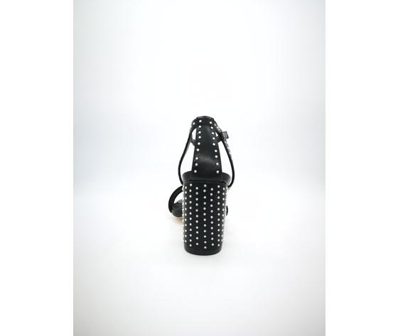 Mci 1001 002 nero sandalo borchiato tacco basso %282%29