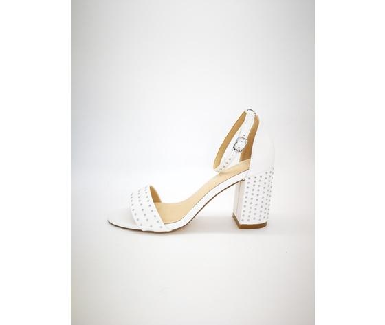Mci5001 002 bianco sandalo borchiato basso