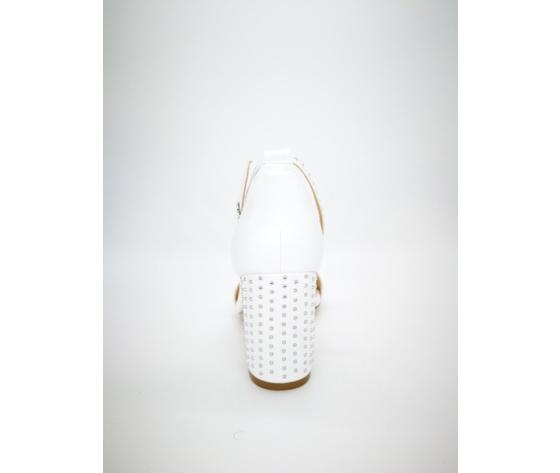 Mci5001 002 bianco sandalo borchiato basso 2