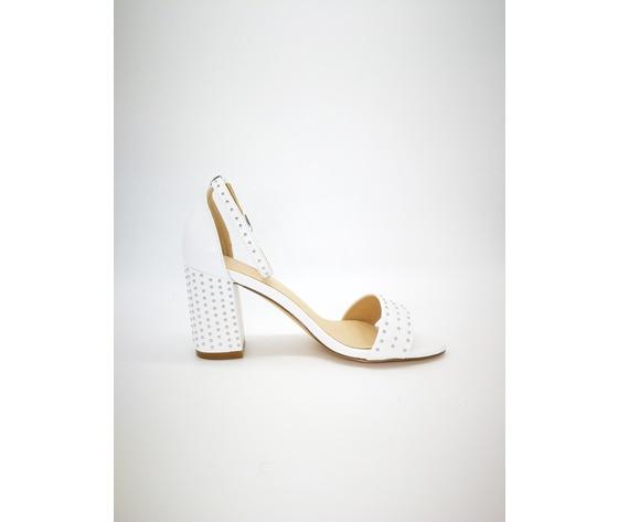 Mci5001 002 bianco sandalo borchiato basso 3