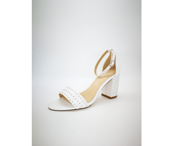 Mci5001 002 bianco sandalo borchiato basso 4