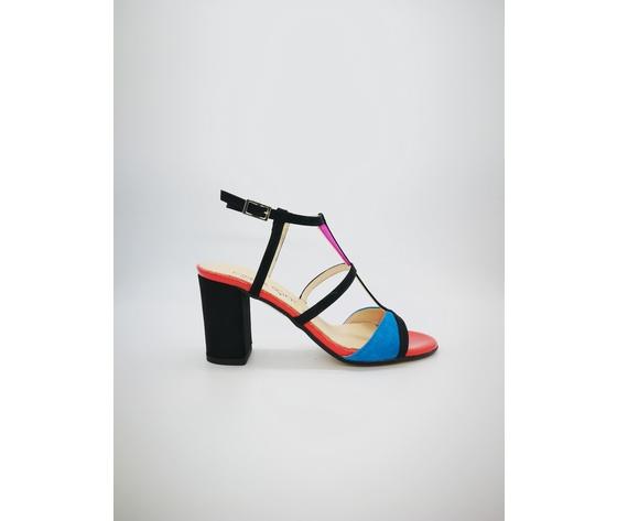 Ibb871 c 002 cinzia soft sandali multicolor tacco largo