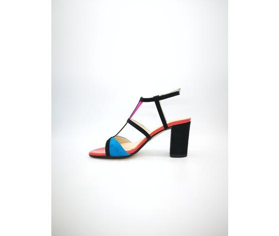 Ibb871 c 002 cinzia soft sandali multicolor tacco largo 3