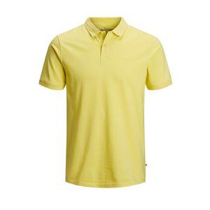 Polo Jack & Jones giallo slim fit cotone uomo art. 12136516 Giallo