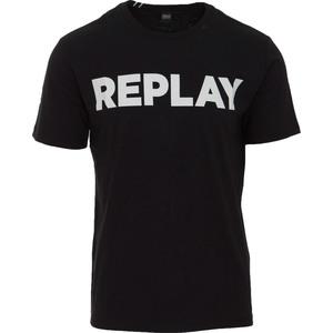 Maglietta Replay nero logo bianco cotone art. M3594 2660 098