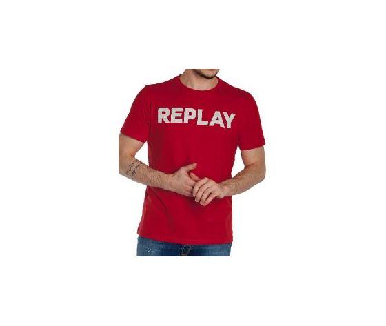 M3594 2660 353 maglietta replay rosso logo bianco 2