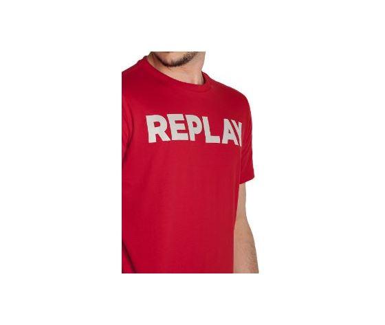 M3594 2660 353 maglietta replay rosso logo bianco 3