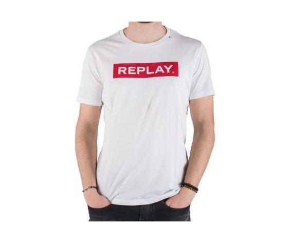 M3720 2660 maglietta replay bianca banda rossa 2