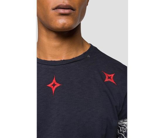 M3745 22336g maglietta replay nera logo rosso fantasia 4