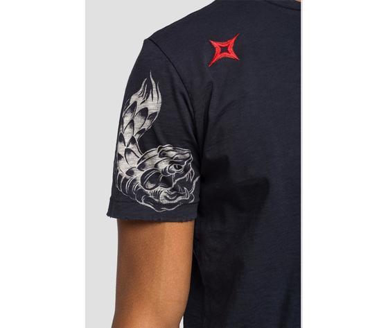 M3745 22336g maglietta replay nera logo rosso fantasia 5