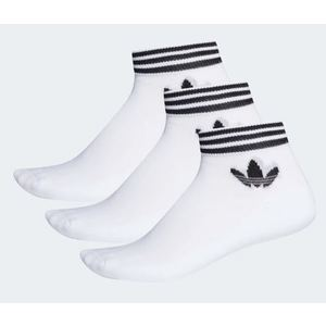 Calzini Adidas bianco Trefoil con logo e strisce lunghezza caviglia 3 paia art. EE1152