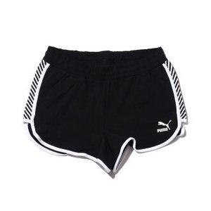 Pantaloncino Puma Clash Aop nero bande bianche donna art. 579583 01