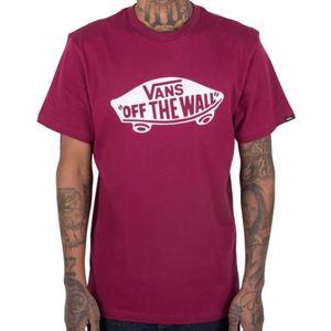 Maglietta Vans bordeaux logo Off The Wall bianco art. VN000JAYTDA